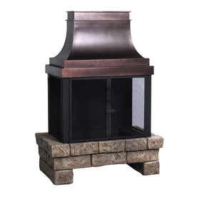 allen + roth Stone and Bronze Composite Outdoor Wood-Burning Fireplace