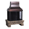 allen + roth Stone and Bronze Outdoor Wood-Burning Fireplace