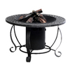 Garden Treasures 20000 BTU 29.92-in Charcoal Finish Steel Liquid Propane Fire Pit