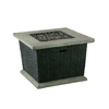 allen + roth 30000 BTU 34.5-in Brown Wicker Design Composite Liquid Propane Fire Pit