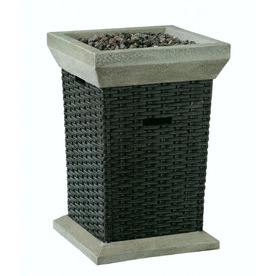 allen + roth 30000 BTU 19.5-in Brown Wicker Design Composite Liquid Propane Fire Pit