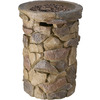 Garden Treasures Tosca 20.8-in W 40,000-BTU Stone Design Composite Propane Gas Fire Column