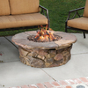 Garden Treasures Tosca 42-in W 50,000-BTU Stone Design Composite Propane Gas Fire Table