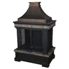 allen + roth Black and Bronze with Slate Design Composite Outdoor Wood-Burning Fireplace