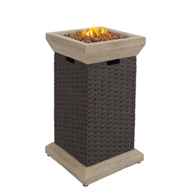 allen + roth Somersville 19.3-in W 40,000-BTU Brown Composite Propane Gas Fire Column