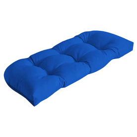 18-in L x 41.5-in W Sunbrella Pacific Blue Solid Loveseat Cushion