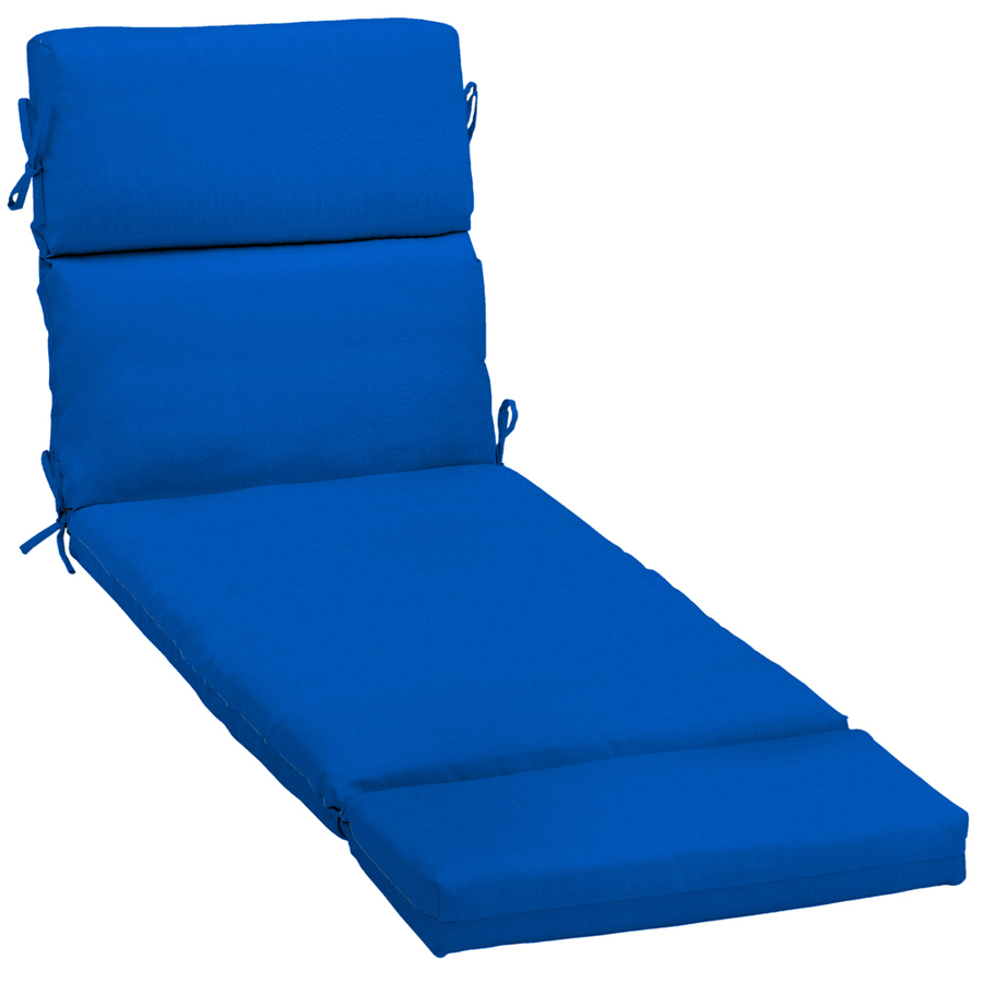 Shop pacific blue patio chaise lounge cushion at for Blue chaise lounge cushions