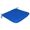 Sunbrella Sunbrella Pacific Blue Solid Reversible Outdoor Seat Pad