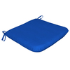 Sunbrella Pacific Blue Solid Reversible Outdoor Seat Pad
