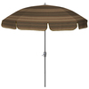 allen + roth 7-ft 6-in Stripe Green Round Patio Umbrella