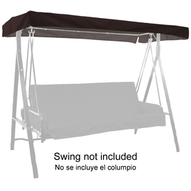 "44""L x 85-1/2""W Black Solid UV-Protected Canopy"