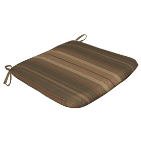 Arden Outdoor StripedGreen Reversible Outdoor Seat Pad