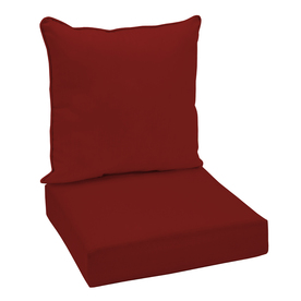 Garden Treasures Red Glenlee Red Solid Cushion For Deep Seat Chair