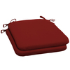 Red Solid Reversible Outdoor Seat Pad