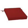 Garden Treasures Red Solid Outdoor Seat Pad