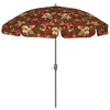 7-ft 6-in Stencil Red Round Patio Umbrella