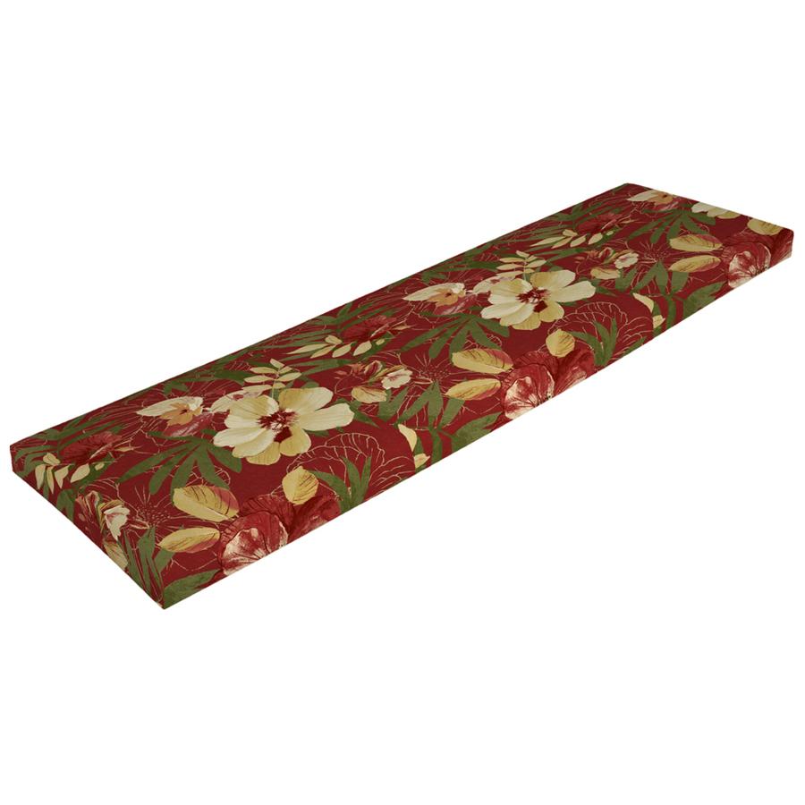 Shop Arden Outdoor Stencil Red Bench Cushion At