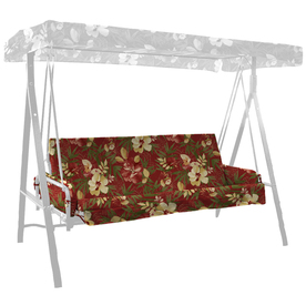 64-in L x 42.5-in W Stencil Red Tropical UV-Protected Swing Cushion and Arm Rest Replacement Set Stencil Red AA02816B