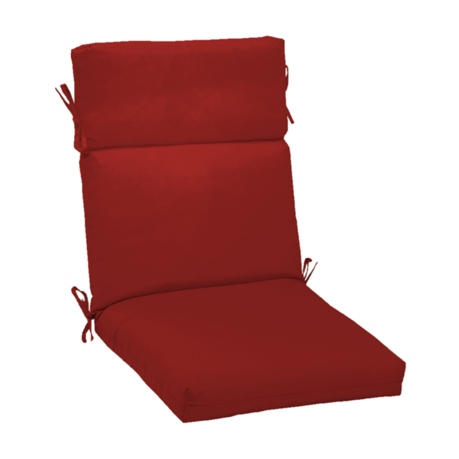 shop red standard patio chair cushion at