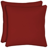 Arden Outdoor Set Of 2 Red UV-Protected Square Outdoor Decorative Throw Pillows