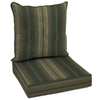 allen + roth 46.5-in L x 25-in W Stripe Green Chair Cushion