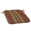 allen + roth Striped Chili Red Reversible Outdoor Seat Pad