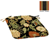 Garden Treasures Floral Black Reversible Outdoor Seat Pad