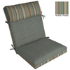 "allen + roth 44""L x 21""W Spa Blue Texture Chair Cushion"