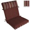 """allen + roth 44""""L x 21""""W Cabernet Red Texture Chair Cushion"""
