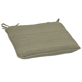 allen + roth Neutral Texture Reversible Outdoor Seat Pad