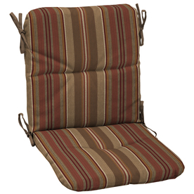 "allen + roth 36-1/2""L x 19-1/2""W Stripe Chili Red Chair Cushion"