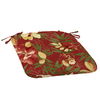 Garden Treasures Stencil Red Tropical Reversible Outdoor Seat Pad