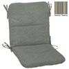 """allen + roth 36-1/2""""L x 19-1/2""""W Spa Blue Texture Chair Cushion"""