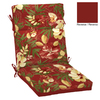 Garden Treasures 46-in L x 22-in W Stencil Red Tropical Chair Cushion