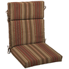 allen + roth 46-in L x 22-in W Stripe Chili Red Chair Cushion
