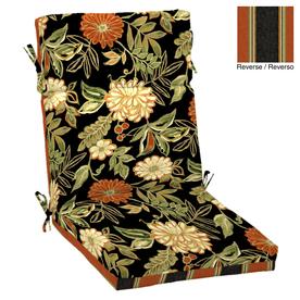 Garden Treasures Floral Cushion For High-Back Chair