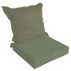 allen + roth 45-in L x 24-in W Green Texture Patio Chair Cushion