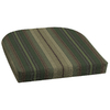 Garden Treasures 18-in L x 20-in W Stripe Green Chair Cushion