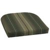 Garden Treasures 18-in L x 20-in W Stripe Green Patio Chair Cushion
