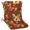 Garden Treasures 36.5-in L x 19.5-in W Stencil Red Tropical Chair Cushion