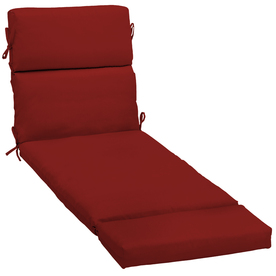 Garden Treasures Red Red Solid Cushion For Chaise Lounge