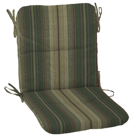 allen + roth 36.5-in L x 19.5-in W Stripe Green Patio Chair Cushion