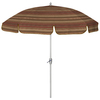7-ft 6-in Striped Chili Red Round Patio Umbrella
