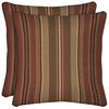 Arden Outdoor Chili Stripe Square Throw Outdoor Decorative Pillow