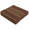 Striped Chili Red Reversible Outdoor Seat Pad