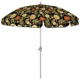 shop round black patio umbrella with tilt and crank