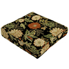 Floral Black Reversible Outdoor Seat Pad