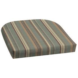 Shop 18 In L X 20 In W Stripe Spa Blue Patio Chair Cushion At