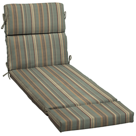 Shop 73 in l x 23 in w stripe spa blue patio chaise lounge for 23 w outdoor cushion for chaise