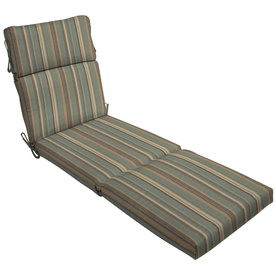 Shop 79 in l x 23 in w stripe spa blue patio chaise lounge for 23 w outdoor cushion for chaise